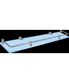 Полка стеклянная прямая с рамкой ограничителем ППО 400х150