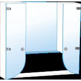 Шкафчики для ванной комнаты (9)