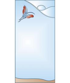 Зеркало с аппликацией ЗДА № 14