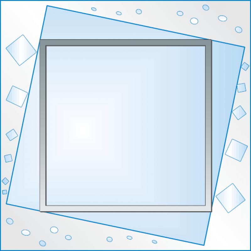 Зеркало матированное ЗО № П 3