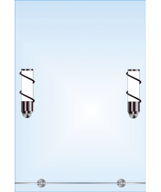 Зеркало одинарное ЗОПС № 105