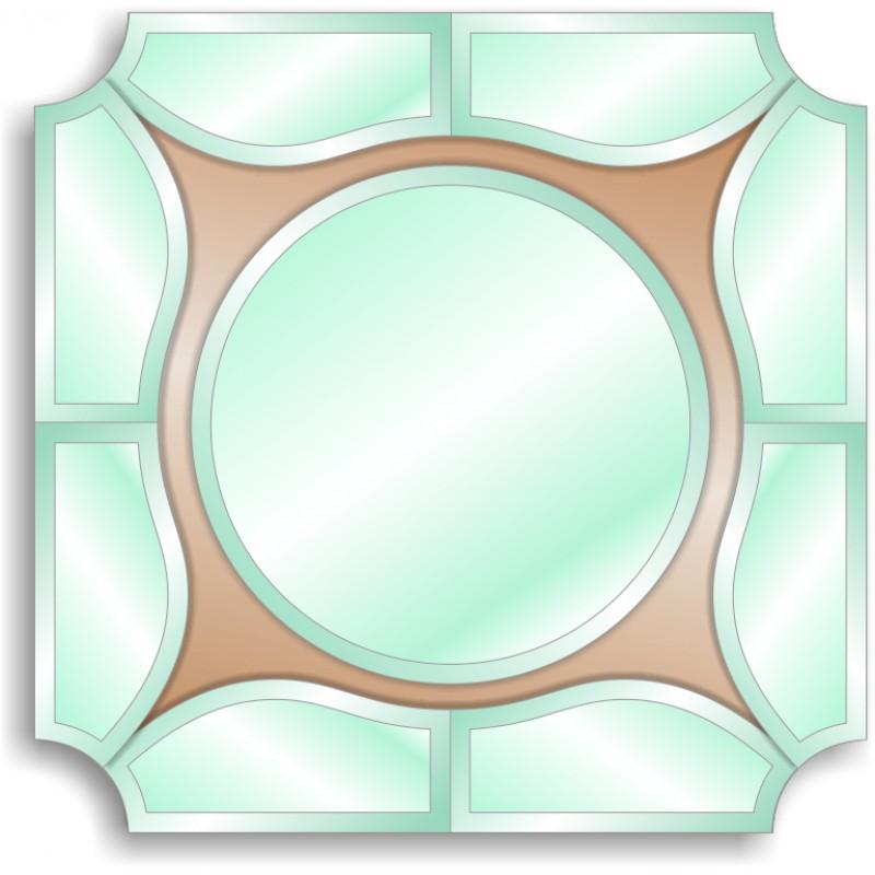 Зеркало с аппликацией ЗДА № 18