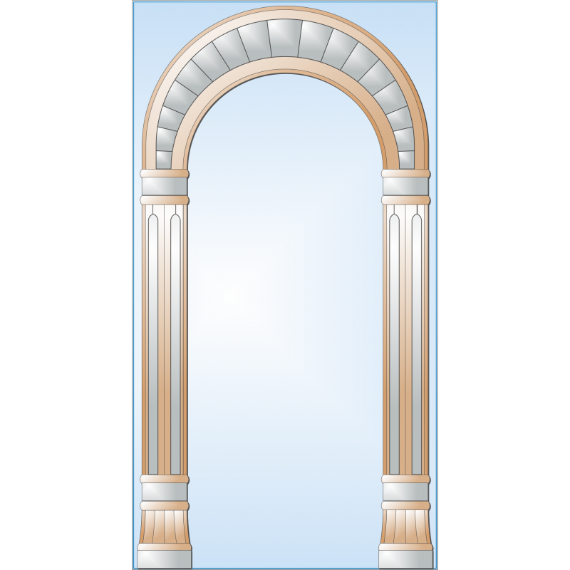 Зеркало с аппликацией ЗОА № 7