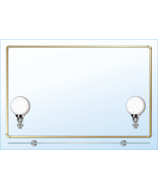 Зеркало одинарное ЗОПС № 98