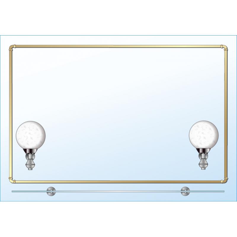 Зеркало одинарное ЗОПС № 3