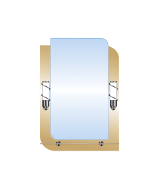 Зеркало двойное ЗДПС № 14