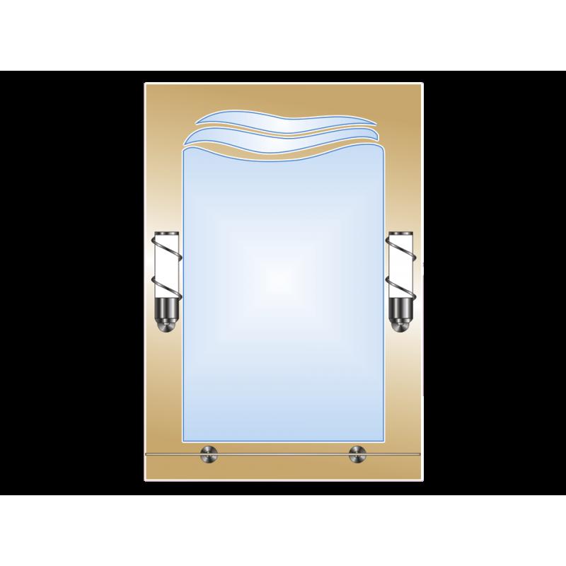 Зеркало двойное ЗДПС № 50