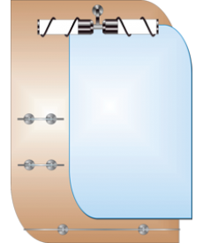 Зеркало двойное ЗДПС № 16